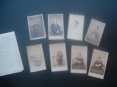 1800'S (8) Whaling Town New Bedford,Mass.,CDV Tucker,Pope,Girdwood families lot!