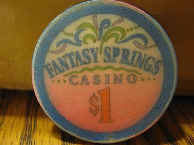 Vintage Fantasy Springs Casino Indio CA ( California ) $1 Casino Chip