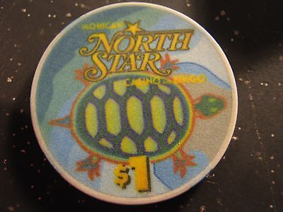 Vintage  Mohican North Star Casino & Bingo Bowler WI $1 Casino Chip