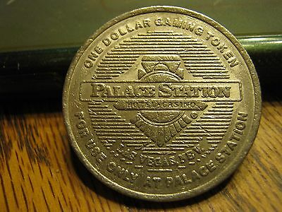 rare Palace Station Hotel Casino Las Vegas NEV Vintage $1 Token One Dollar Coin