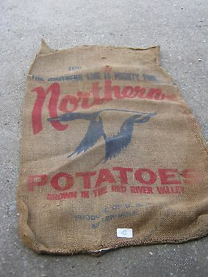 Mighty Grown Red River Valley Eagle Northern Potatoes Vintage burlap sack