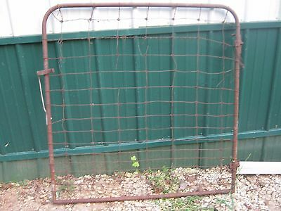 Antique Vintage Rustic Rusty Wire Metal Farm Gate Garden Gate great for decor