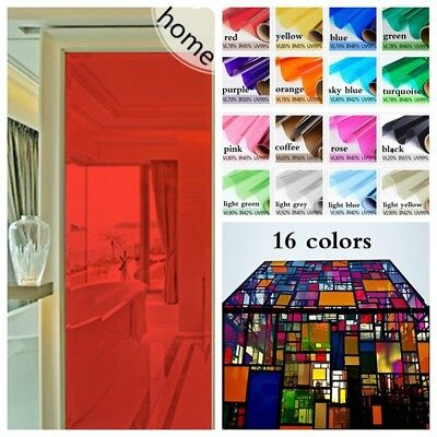 Window Glass Sticker Solar Film Decor Transparent Self Adhesive Vinyl Frosted