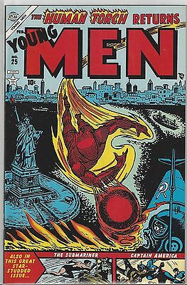 YOUNG MEN #25 Captain America Torch Atlas / Timely JC Penney Reprint NM (9.4)