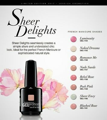 NEW! Jessica GELeration 0.5oz- SHEER DELIGHT Collection - Pick Any Color