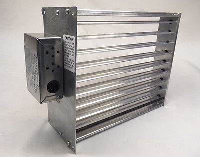 HVAC MOTORIZED ZONE Control Rectangular Damper 110 volt 12x10 spring return
