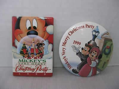 Disney Mickey's Very Merry Christmas Party 1998 1999  Pins Lot of 2