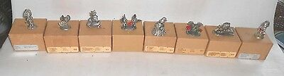 Lot Of 8 Little Galley By Hallmark Pewter Figurines (In Original Boxes)