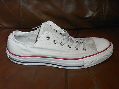 a9b234fedecd CONVERSE WASHED CANVAS All Star Ox Pumps Trainers - White Cream-Size 7 UK  Adult - EUR 5