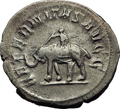 PHILIP I the ARAB 1000 Years of Rome ELEPHANT COLOSSEUM Silver Roman Coin i63404