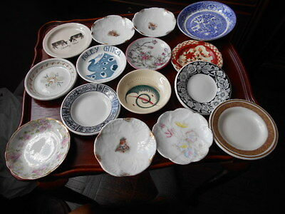 Mixed Lot Of 15 Vintage Butter Pats Mostly with Flowers