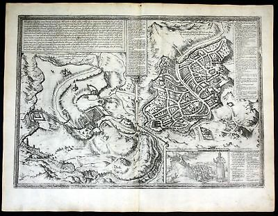 ca. 1575 Jerusalem Israel Holy Land Braun Hogenberg map Plan engraving