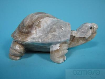 """Hand-Carved 6"""" Green Onyx Turtle Tortoise from Pakistan"""