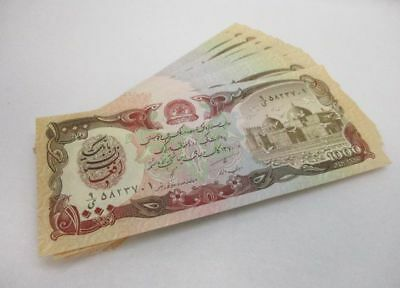 Over 60 Afghanistan 1,000 Afghanis Bank Notes Foreign Currency