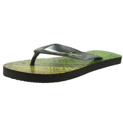 Maui and Sons 2778 Mens Green Graphic Slide Flip-Flops Sandals 10 BHFO