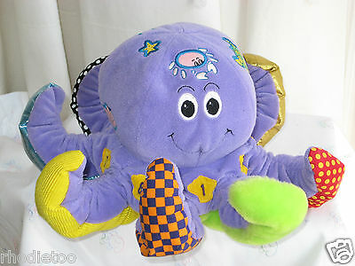 Vintage Boots Octopull Soft Plush Activity Octopus Chime Rattle Baby Chime Toy