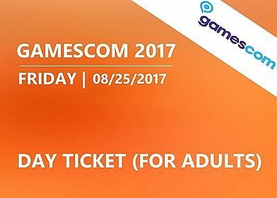 GAMESCOM 2017 - Friday 08/25/2017 - Day ticket (adults) - Cologne Germany