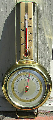 Rare 1927 Taylor Stormoguide Barometer And Thermometer !!!