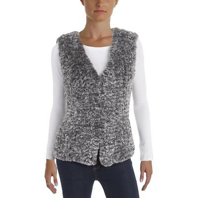 Aqua 9479 Womens Faux Fur Casual Vest Top BHFO