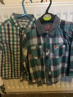 2x Baby boy Shirts ted baker And Next 12-18 Months