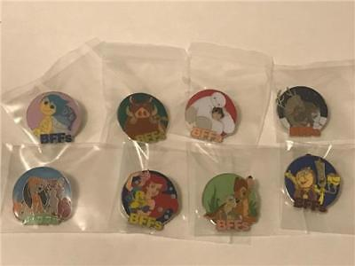 2017 BFFs BEST FRIENDS MYSTERY COLLECTION- ENTIRE SET DISNEY 8 Pin Set NEW