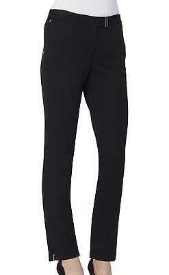Tahari By ASL NEW Solid Black Women's Size 4 Stretch Dress Pants $89 #239
