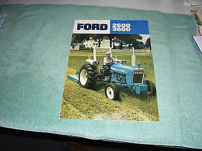 Ford 2600 3600 Tractors Color Sales Brochure, 1975, Ad8697