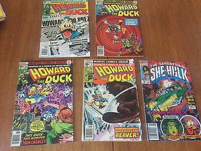 Comic Book Lot HOWARD THE DUCK Howard Foe Prez Jan 8 02415 + Bonus