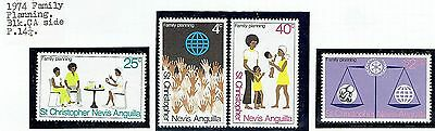 St.christopher Nevis Anguilla.1974 Family Planning Set See Scans
