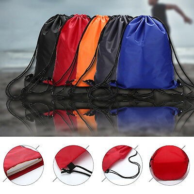 Portable Waterproof Drawstring Backpack School Tote Gym Bag Outdoor Sport Pack