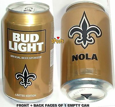 2017 Nfl Kickoff New Orleans Saints Bud Light Beer Can Louisiana Football Sports