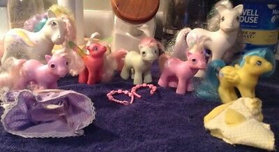 Vintage Lot 1980'S My Little Pony and baby with  Accessories