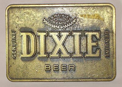 DIXIE BEER RARE VINTAGE BELT BUCKLE New Orleans Brewery La Bottle Can