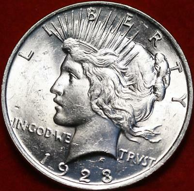 Uncirculated 1923 Philadelphia Mint Silver Peace Dollar Free S/H