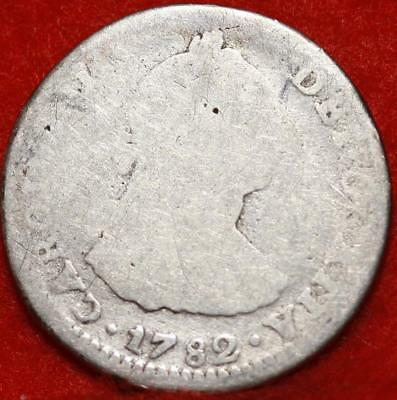 1782 Mexico 1 Reale Silver Foregin Coin Free S/H