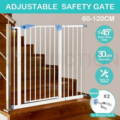 100CM Height Baby Pet Child Safety Security Gate Stair Barrier w/ 30CM Extension