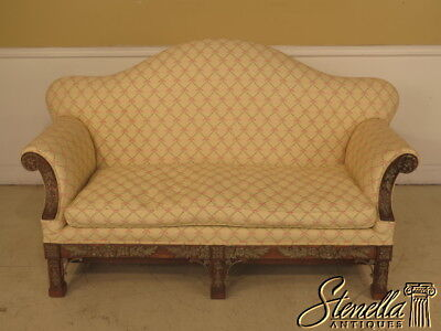 L23510: Carved Chippendale Style Decorator Frame Sofa