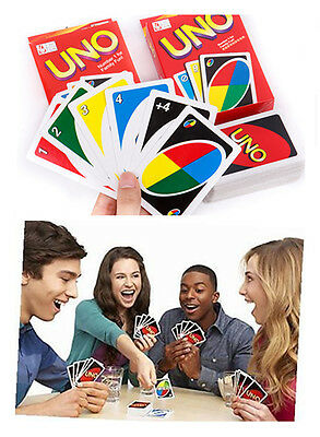 Standard 108 UNO Playing Cards Game Family Friend Travel Instruction Fun Toy SP