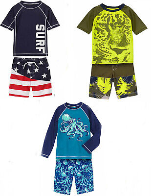 Baby Boy//Toddler Sunscreen Swim Shirt 6-12,12-18,18-24 mos NWT UPF 50 Gymboree