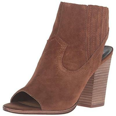 Dolce Vita 7091 Womens Pasha Brown Suede Ankle Boots Shoes 9 Medium (B,M) BHFO