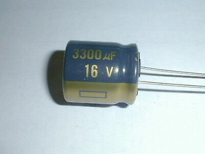 Capacitor Electrolytic EEU-FC1C332S 3300uF 16V 105c 18X20mm Radial lead 12 piece