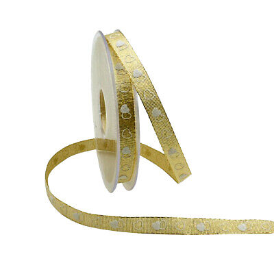 22 Yds Gold Ribbon Grosgrain for Wedding Christmas Decoration Card Gift Wrapping