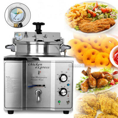 16L Chicken Pressure Fryer 50-200℃ Stainless Steel Kitchen Cooking Countertop