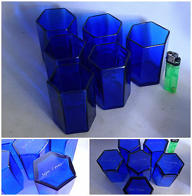 Murano Art 6 Whiskey Glass Seguso Signed Hexagon Bicchieri Age Venini Barbini