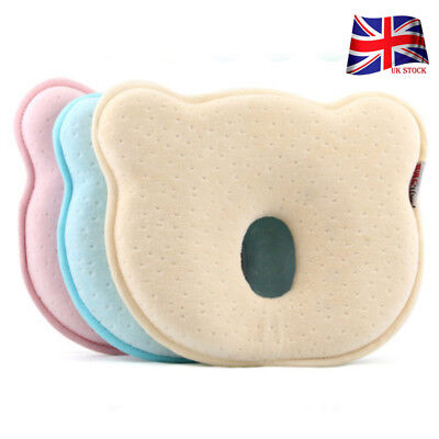 Newborn Baby Pillow Support Cushion Pad Prevent Flat Head Shaping Pillow UK