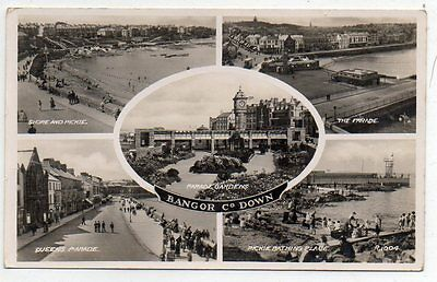 """""postcard Multiview Bangor,co.down.ireland"""""