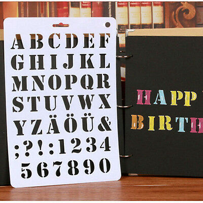 Number Letter Alphabet Paper Layering Stencils Template Embossing Scrapbooking