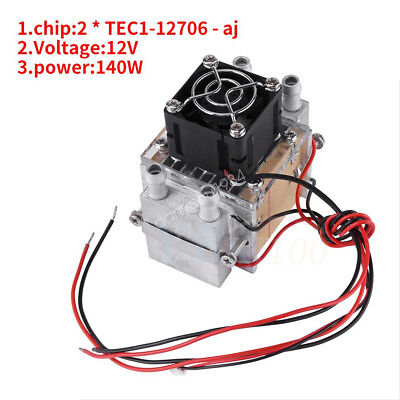 2-chip 140W Semiconductor Refrigeration Air Conditioner Cooling Set Water-cooled