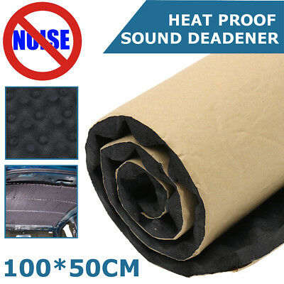 5-20mm Car Van Insulation Noise Sound Deadening Hood Heat Proofing 50x100cm Foam