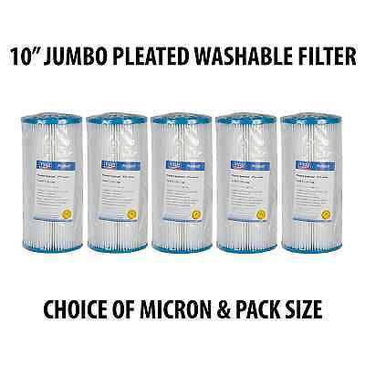 "5 X 10"" Jumbo Pleated Washable Filter - Bio Diesel - 1, 5, 10, 20, 50 Micron"